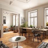 Bohemian living room in Stockholm (Выполнена по референсу)