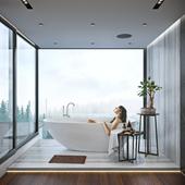 Bathtub & Bed