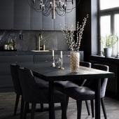 Black kitchen, Sweden(сделано по референсу)