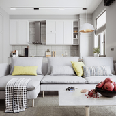 living room & kitchen 2-variant