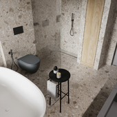 Визуализация ванной комнаты в частном доме в г. Вильнюс.