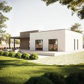 дизайн жилого дома(сделано по референсу)