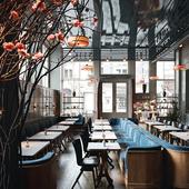 La Mercerie Cafe at The Guild, NY, USA (сделано по референсу)