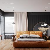 DEEP ORANGE - Спальня  (выполнено по референсу)