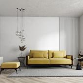 Визуализация помещения и дивана для одной столярной мастерской.