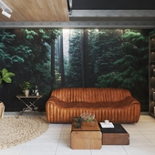 Дизайн интерьеров холла и гостиной