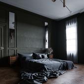MASTERS BEDROOM IN MODERN REGENCY STYLE