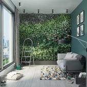 Дизайн-проект зоны отдыха с фитостеной