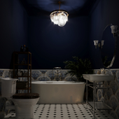 Bright bathroom in art deco style