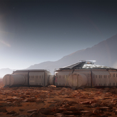 The Martian colony base