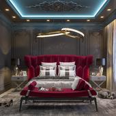 Дизайн и визуализация спальной комнаты