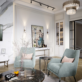 Дизайн интерьера и визуализация холла в частном доме в г.Ташкент