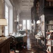 Ресторан - Библиотека (сделано по референсу)