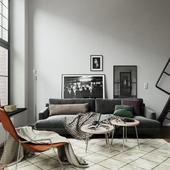 Квартира в черно-белом стиле (выполнено по референсу)