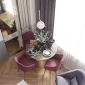 Living room visualization for FlatDesign