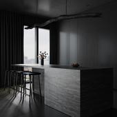 Dark kitchen (сделано по референсу)