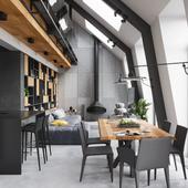 Двухсветное пространство квартиры (работа выполнена по референсу)