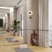 Комната для йоги и тенниса