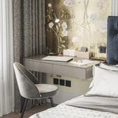 Хозяйская спальня с гардеробом в ЖК Астория