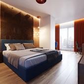 Спальня в квартире № 20 в Киеве