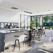Kitchen Interior in the Casle Road