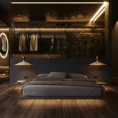 Bedroom in the woods