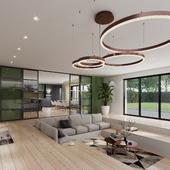 Living room on the Sanford