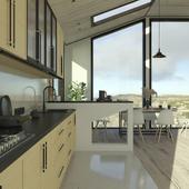 Кухня в доме на отшибе