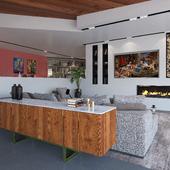 Moderm interior (Living-room)