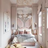 Детская комната для маленькой девочки в загородном доме