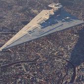 Звездный крейсер над Москвой