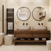 Ванная комната в частном доме #HLD_DREAMHOUSE