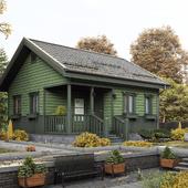 Дачный домик в окружении осени