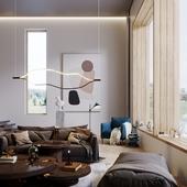 Гостиная комната в частном доме