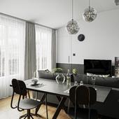 Квартира в Сопоте, Польша (сделано по референсу)