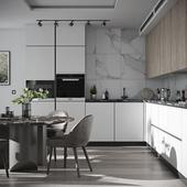 Kitchen in a contemporary style (сделано по референсу)