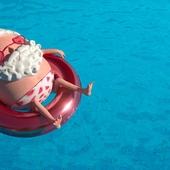 Santa Claus on summer vacation