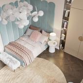 Визуализация спальни для девочки