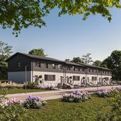CGI - Modern terraced house in Poland