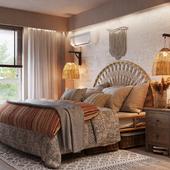 дизайн спальни бюджетного типа, для молодой пары