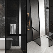 """Master bathroom from the project of apartment """"Winter escape"""""""