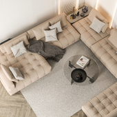 Luxurious interior of a house of 136 square meters.