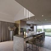 Визуализация кухни,гостиной и прихожей.