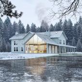 Floating farmhouse