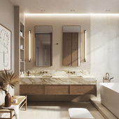 White pear apartment | Bathroom