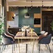 Renders of Kitchen-Livingroom