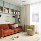 Гостевая комната-кабинет