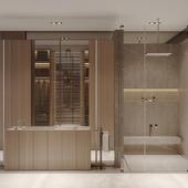 AWD21F Дизайн интерьера мастер ванной комнаты
