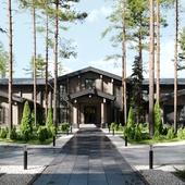 PWH20F - экстерьер деревянного частного дома