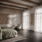 Bedroom design concept and visualization for a new apartment in Culver City, California.